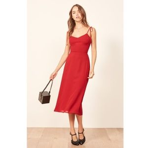 NEW Reformation | Nectar Sundress Red Size 10